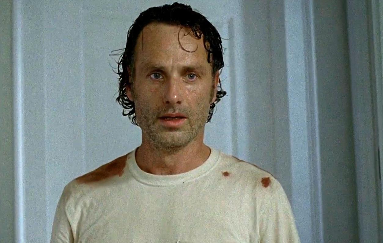 The Walking Dead: Andrew Lincoln in una foto di L'inizio e la fine