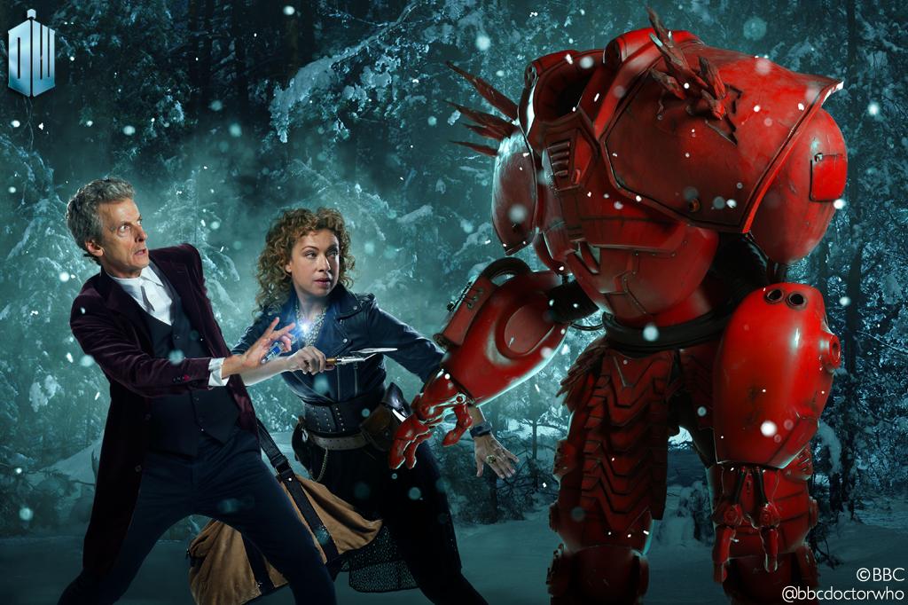 Doctor Who: Peter Capaldi e Alex Kingston in un artwork dello speciale di Natale