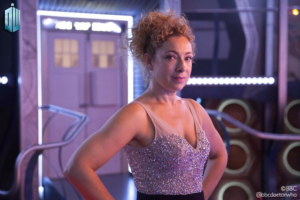 Doctor Who: Alex Kingston in una foto promozionale dello speciale natalizio