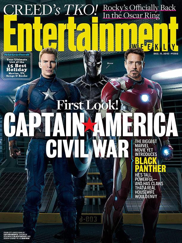 Captain America: Civil War - La copertina di Entertainment Weekly dedicata al film