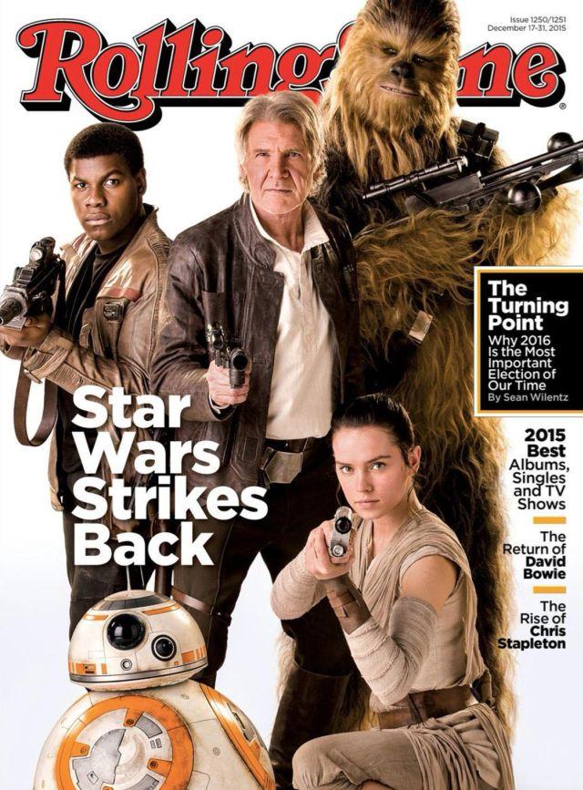 Star Wars: Il Risveglio della Forza - La copertina di Rolling Stone
