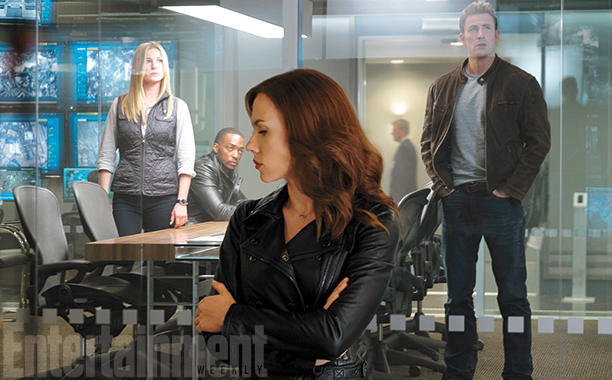 Captain America: Civil War - Emily VanCamp, Anthony Mackie, Scarlett Johansson e Chris Evans