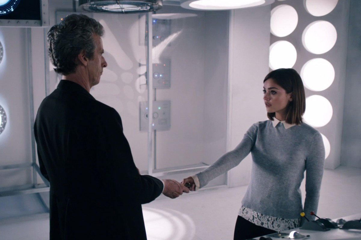 Doctor Who: Peter Capaldi insieme a Jenna Coleman nell'episodio Hell Bent