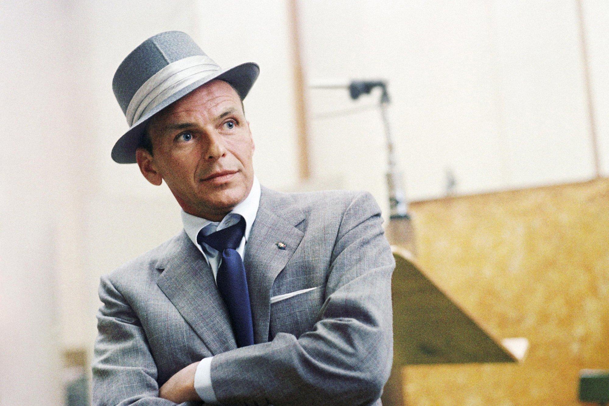L'attore e contante Frank Sinatra