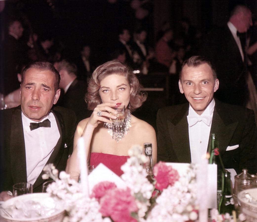 Frank Sinatra. Humphrey Bogart e Lauren Bacall