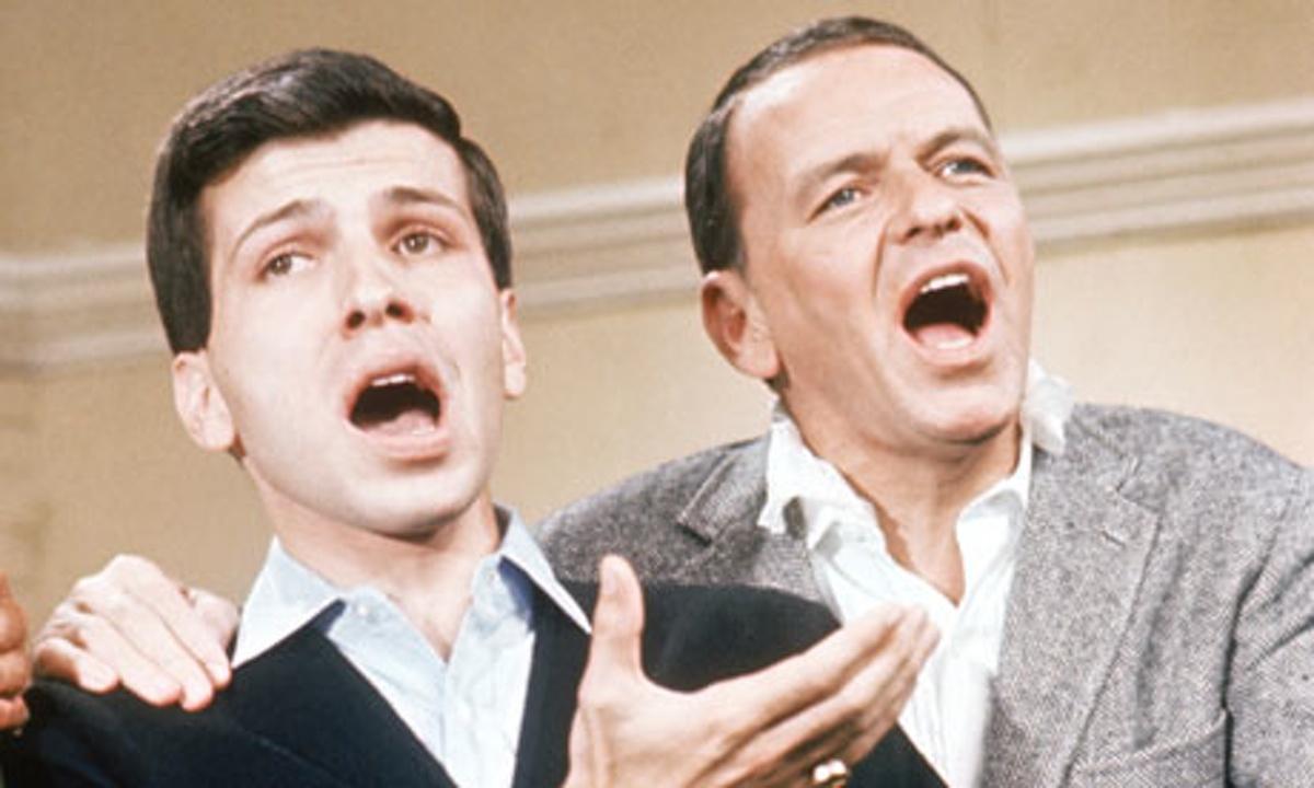 Frank Sinatra e il figlio Frank Jr.