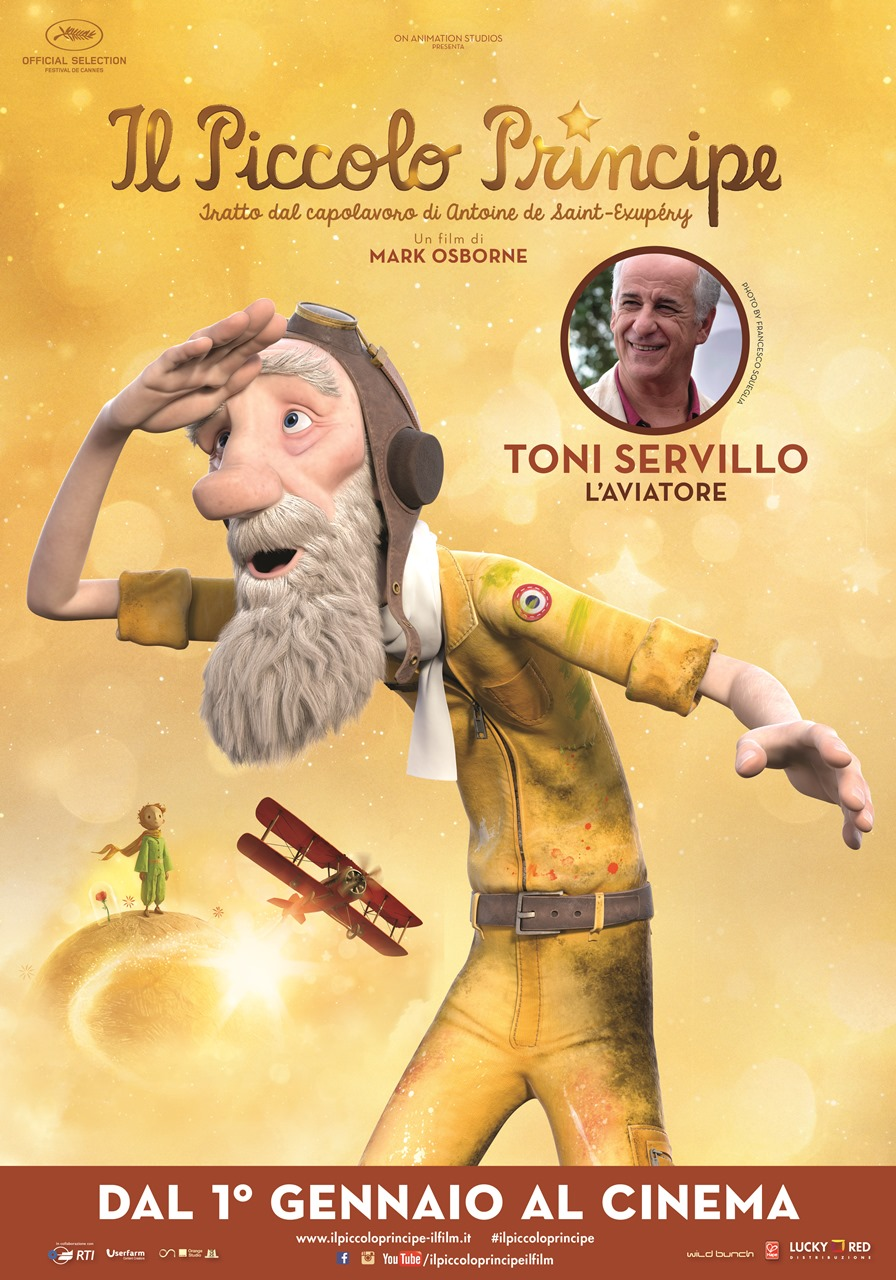 Il Piccolo Principe: il character poster dell'Aviatore doppiato da Toni Servillo