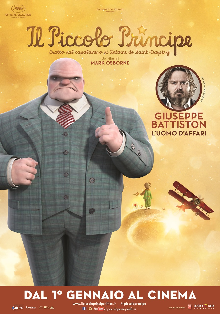 Il Piccolo Principe: il character poster dell'Uomo d'affari, doppiato da Giuseppe Battiston
