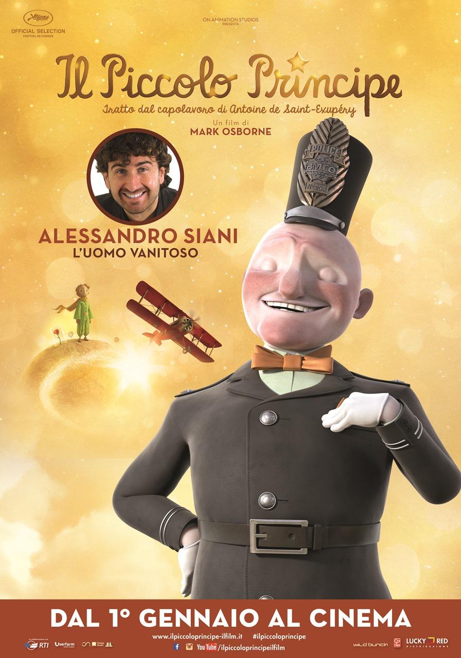 Il Piccolo Principe: il character poster del Vanitoso, doppiato da Alessandro Siani