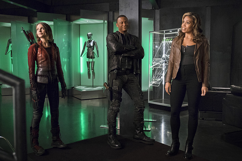 The Flash: Willa Holland, David Ramsey e Ciara Renée in una foto di Legends of Today