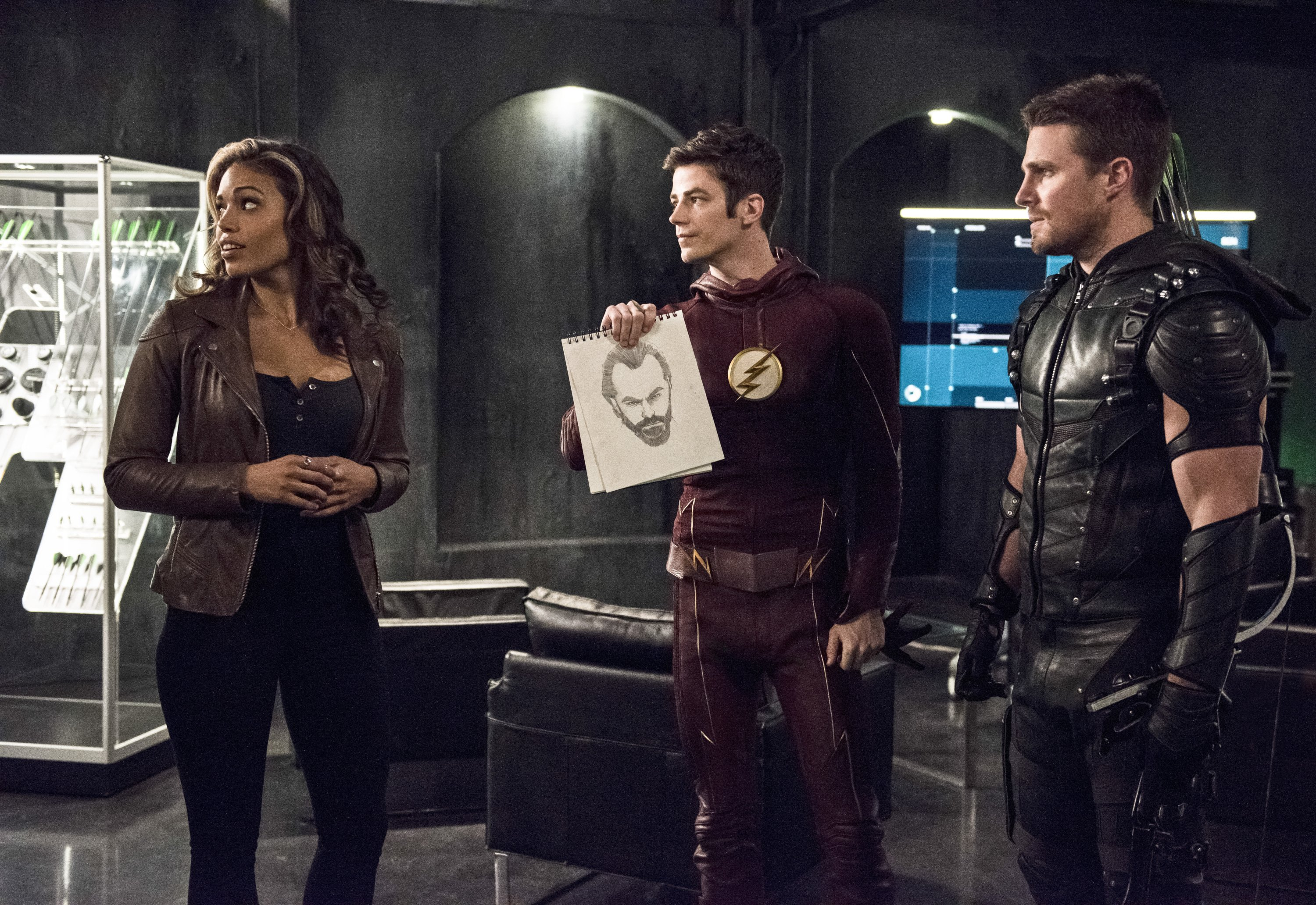 The Flash: Ciara Renée, Grant Gustin e Stephen Amell in Legends of Today