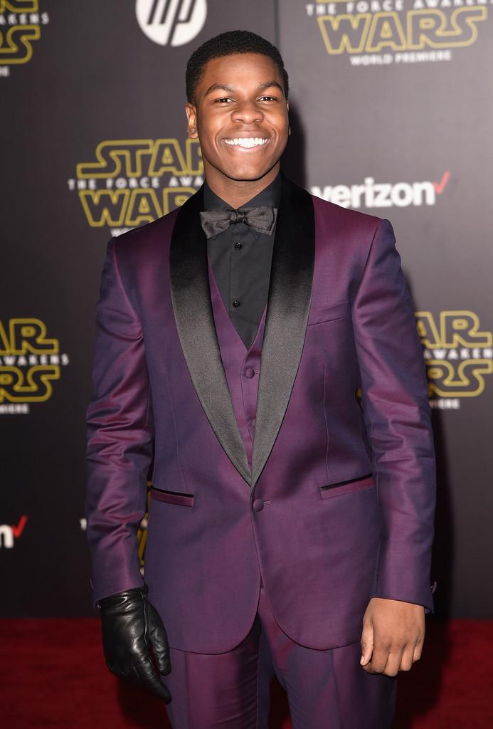 Star Wars: il risveglio della Forza: John Boyega alla premiere