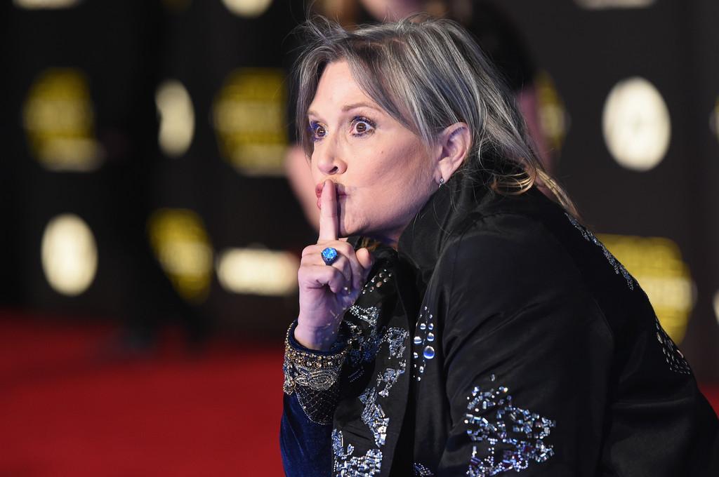 Star Wars: il risveglio della Forza - Carrie Fisher alla premiere