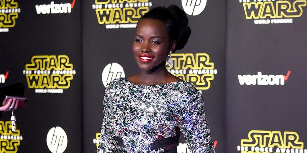 Star Wars: il risveglio della forza - Lupita Nyong'o alla premiere