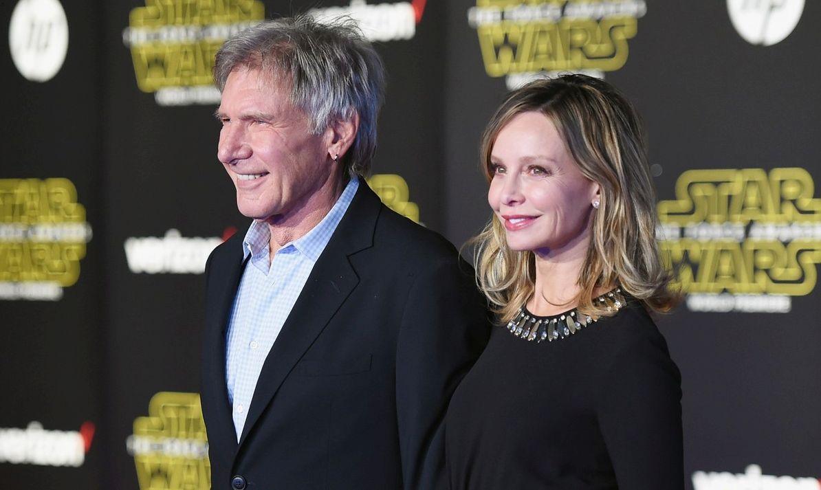 Star Wars: il risveglio della forza - Harrison Ford con la moglie Calista Flockhart alla premiere