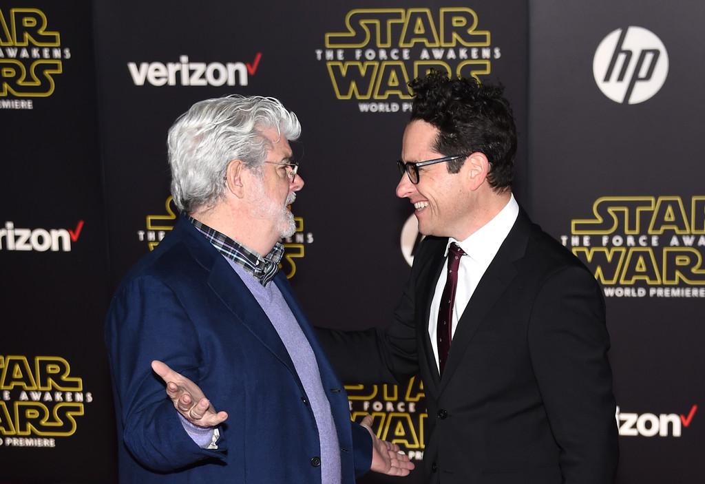 Star Wars: il risveglio della Forza - J.J Abrams e George Lucas alla premiere
