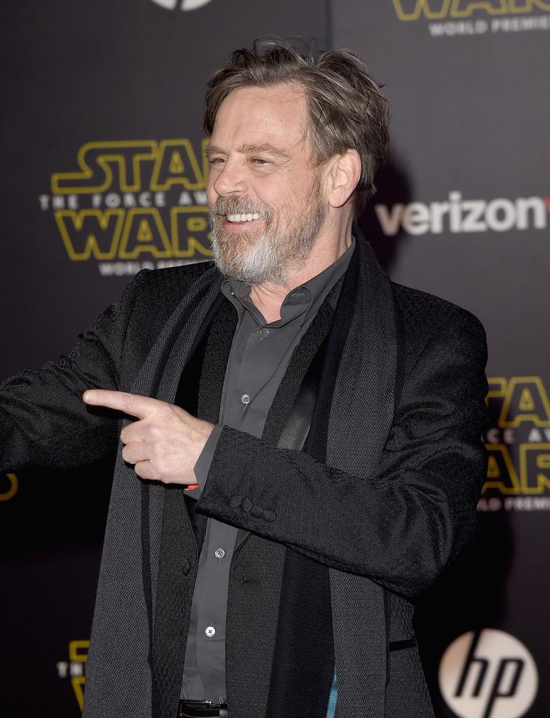 Star Wars: il risveglio della Forza, Mark Hamill alla premiere