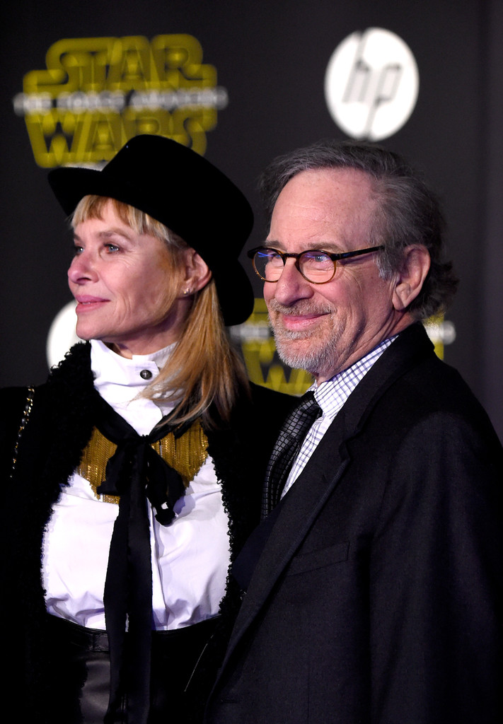 Star Wars: il risveglio della Forza Steven Spielberg e Cate Capshaw alla premiere