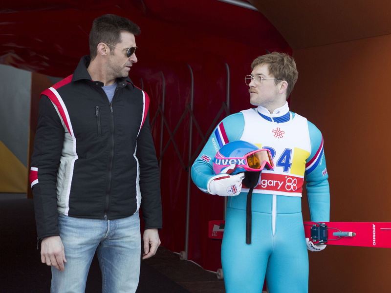 Eddie the Eagle: Hugh Jackman e Taron Egerton discutono la strategia di gara