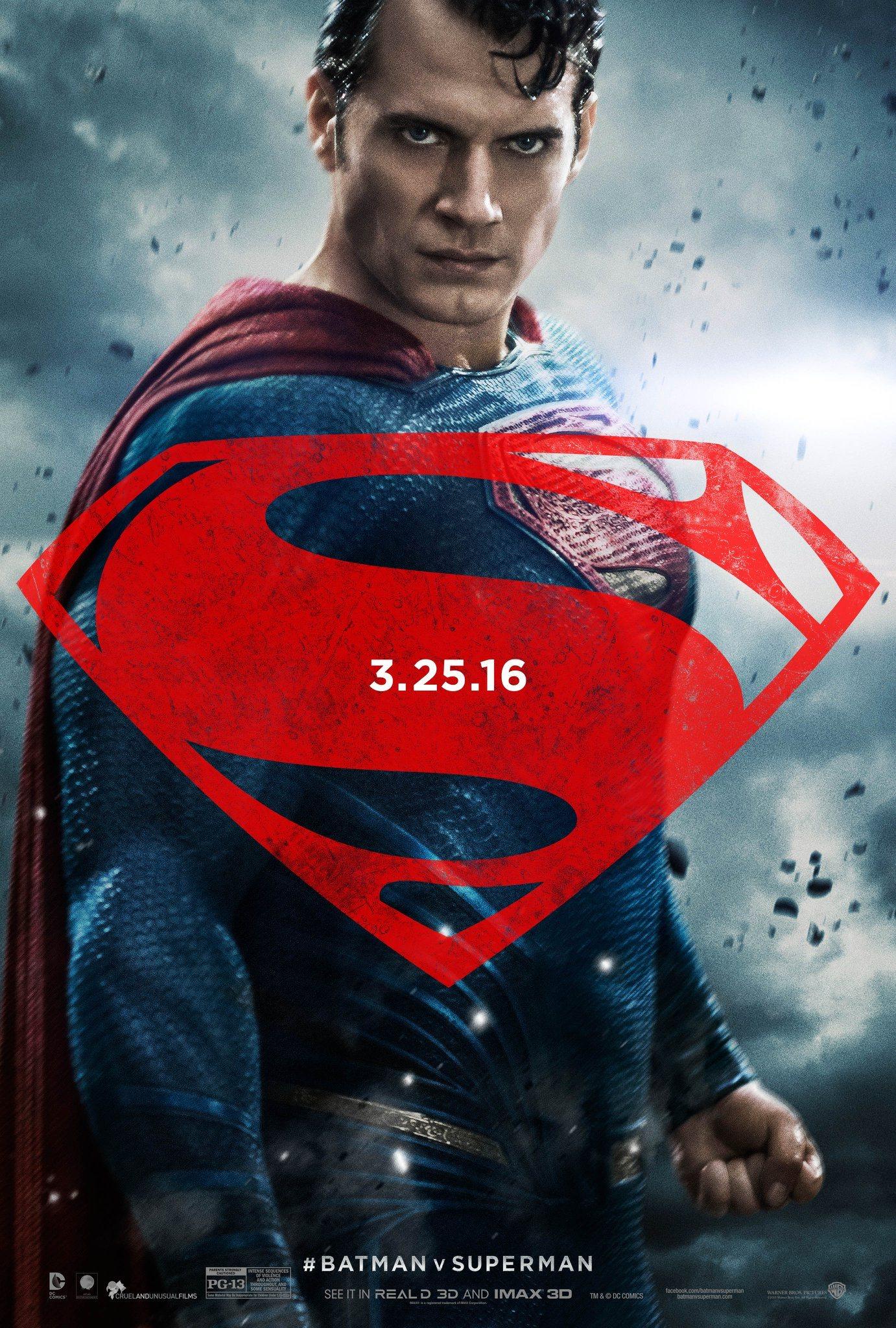 Batman v Superman: il character poster di Superman