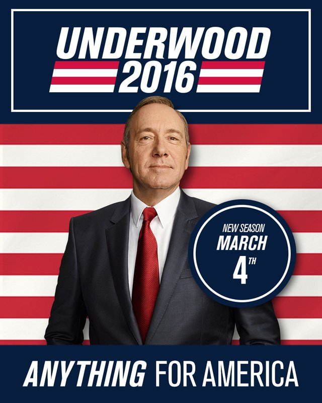 House of Cards: Kevin Spacey nel poster della stagione 4