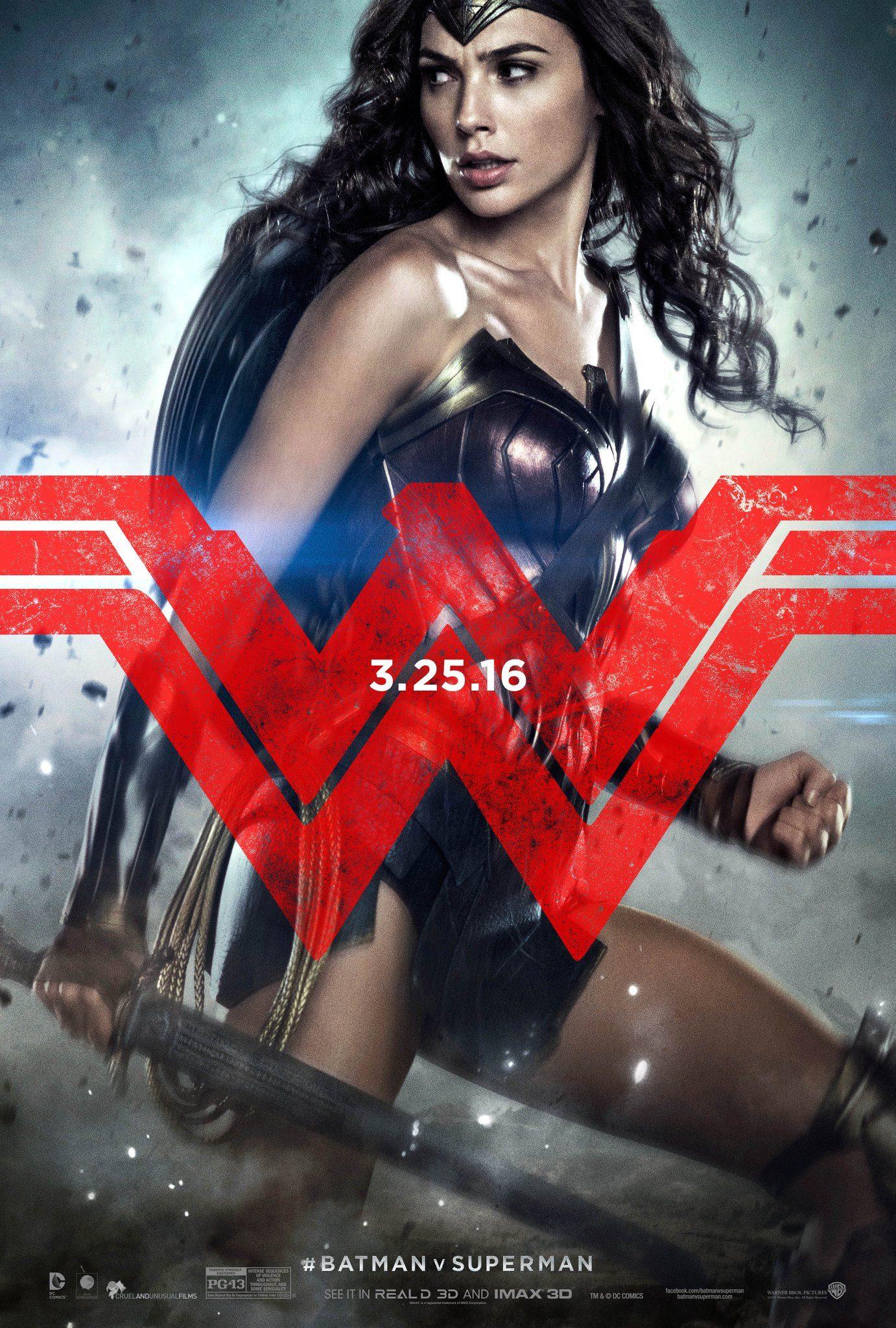 Batman v Superman: il character poster di Wonder Woman