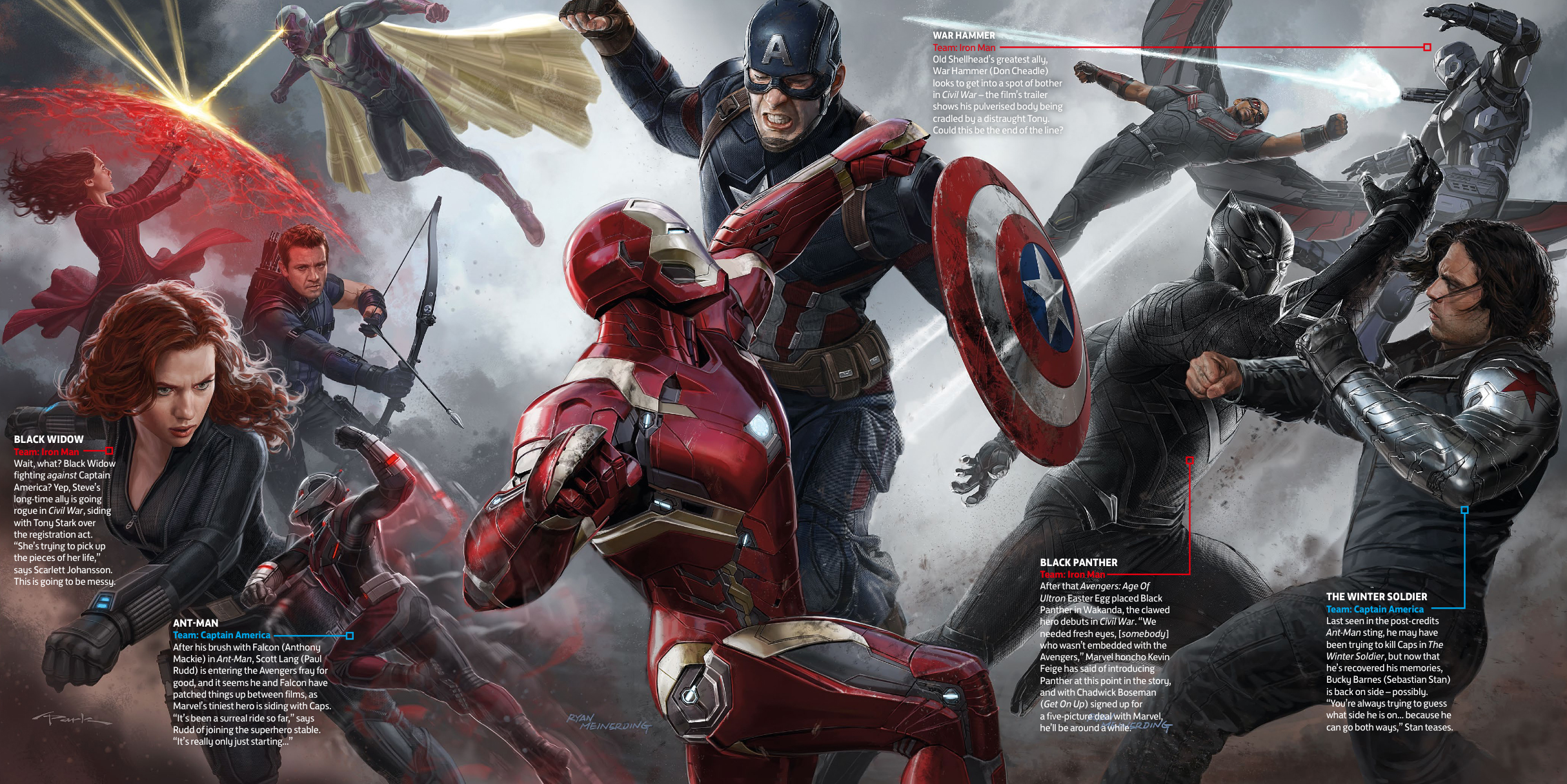 Captain America: Civil War - Un concept art del film Marvel