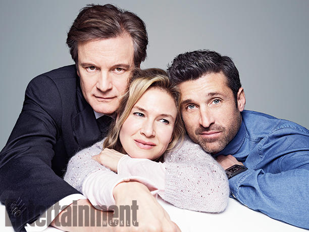 Bridget Jones's Baby: Colin Firth, Renée Zellweger e Patrick Dempsey insieme in una foto