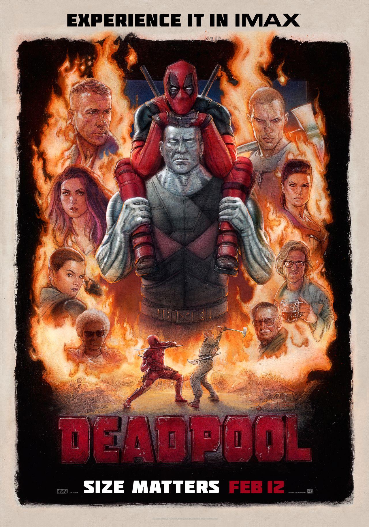 Deadpool: il poster della versione IMAX del film