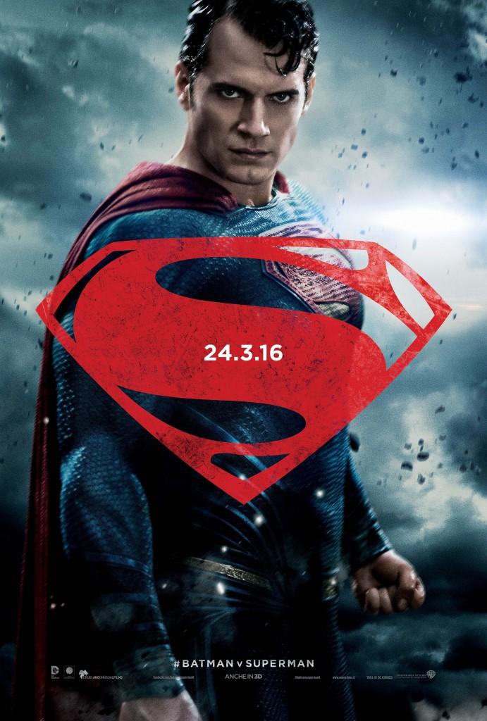 Batman v Superman: Dawn of Justice, il character poster di Henry Cavill nei panni di Superman