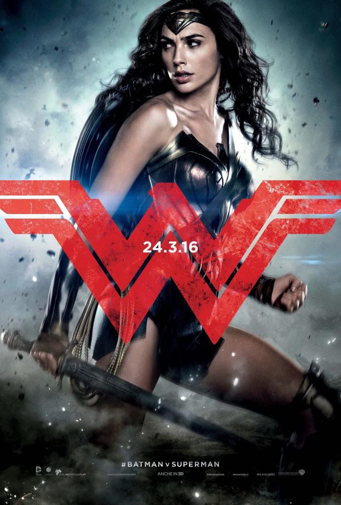 Batman v Superman: Dawn of Justice, il character poster di Gal Gadot nei panni di Wonder Woman