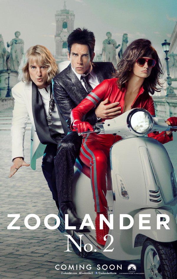 Zoolander 2 - Un nuovo ammiccante poster