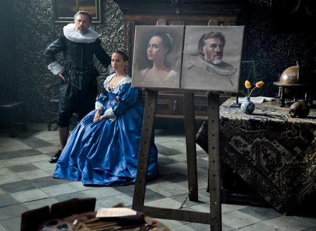 Tulip fever: Alicia Vikander e Christoph Waltz nella prima immagine ufficiale del film