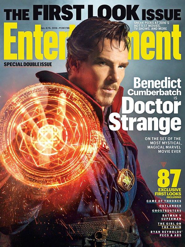 Doctor Strange: la copertina di Entertainment Weekly con benedict Cumberbatch