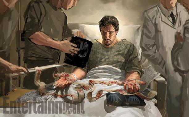Doctor Strange: il concept art di una scena del film