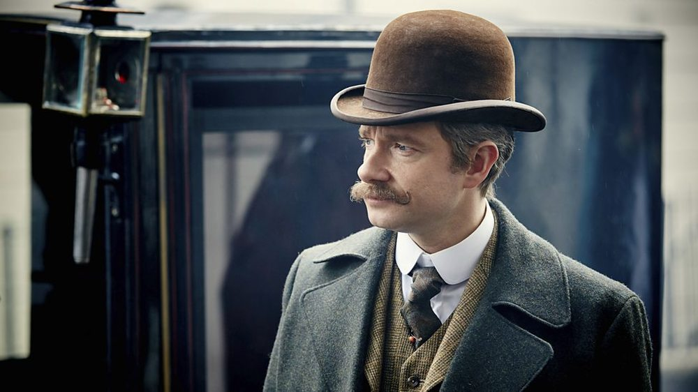 Sherlock - L'abominevole sposa: Martin Freeman in una scena dell'episodio tv speciale