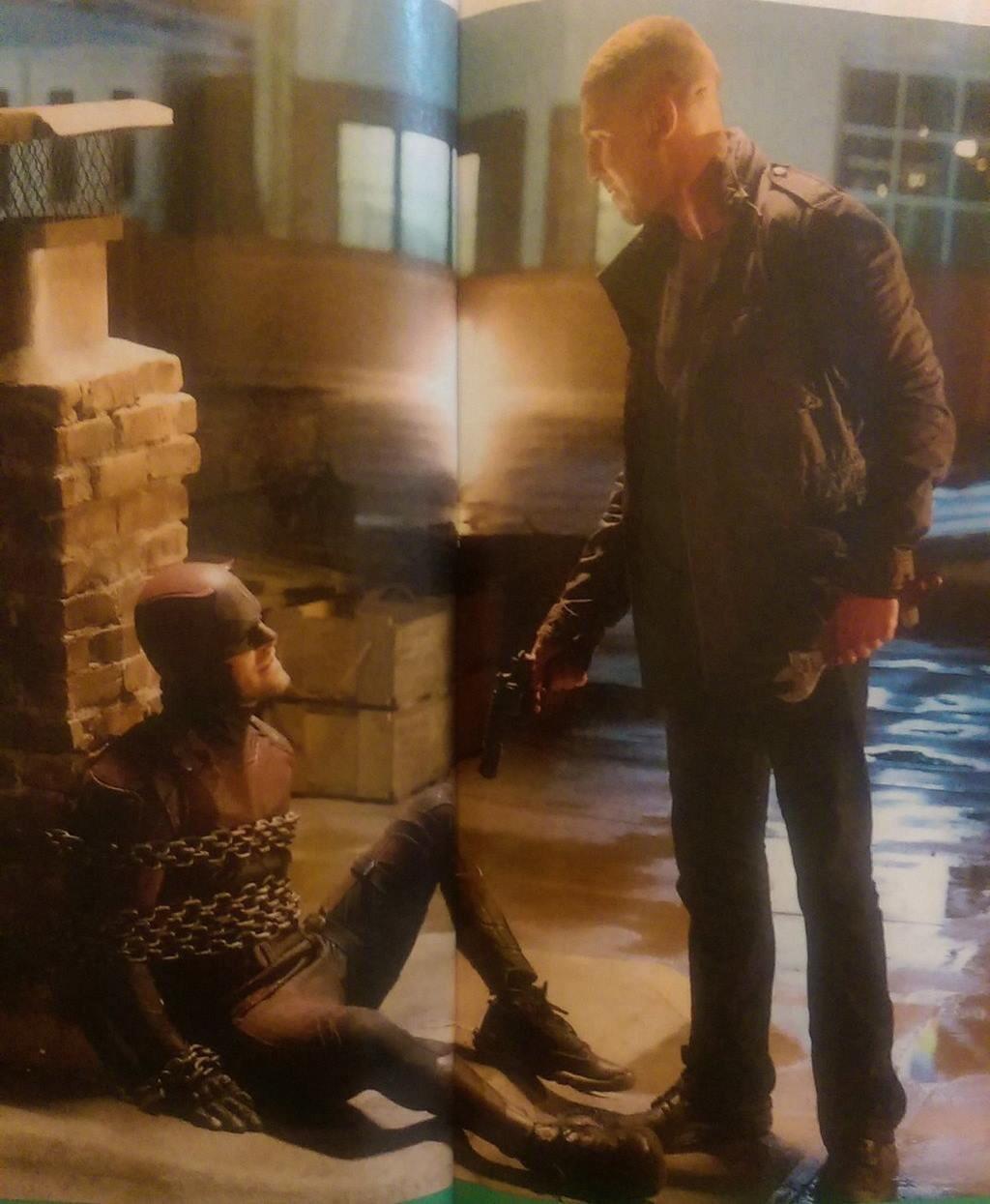 Daredevil: Charlie Cox e Jon Bernthal in una scena della stagione 2