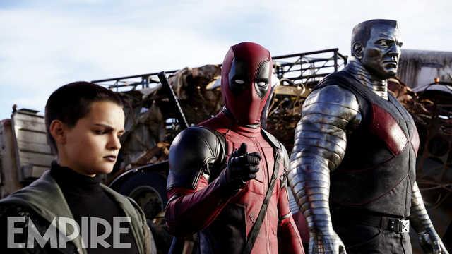Deadpool: Negasonic Teenage Warhead, Deadpool e Colossus in una foto del film