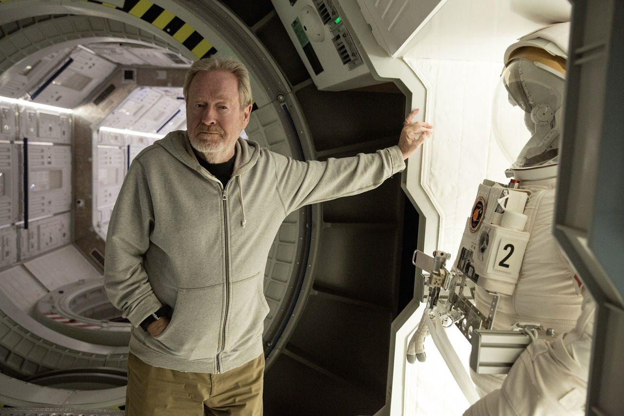 Ridley Scott sul set di Sopravvissuto - The Martian
