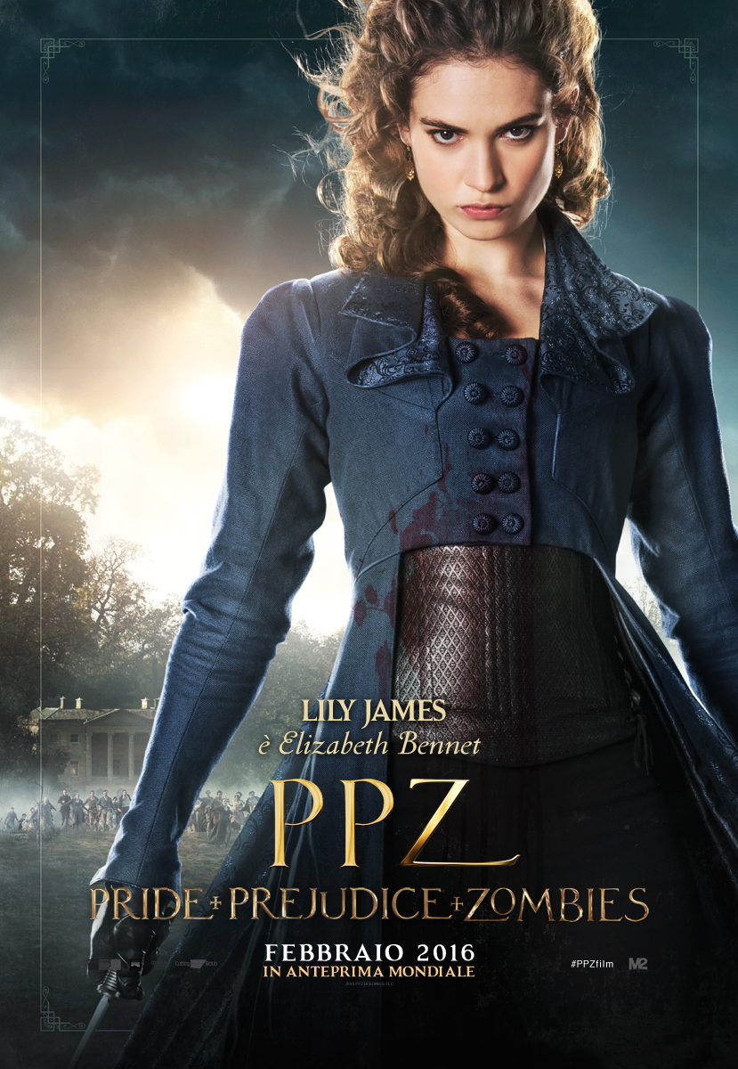 PPZ – Pride and Prejudice and Zombies: il character poster italiano di Lily James