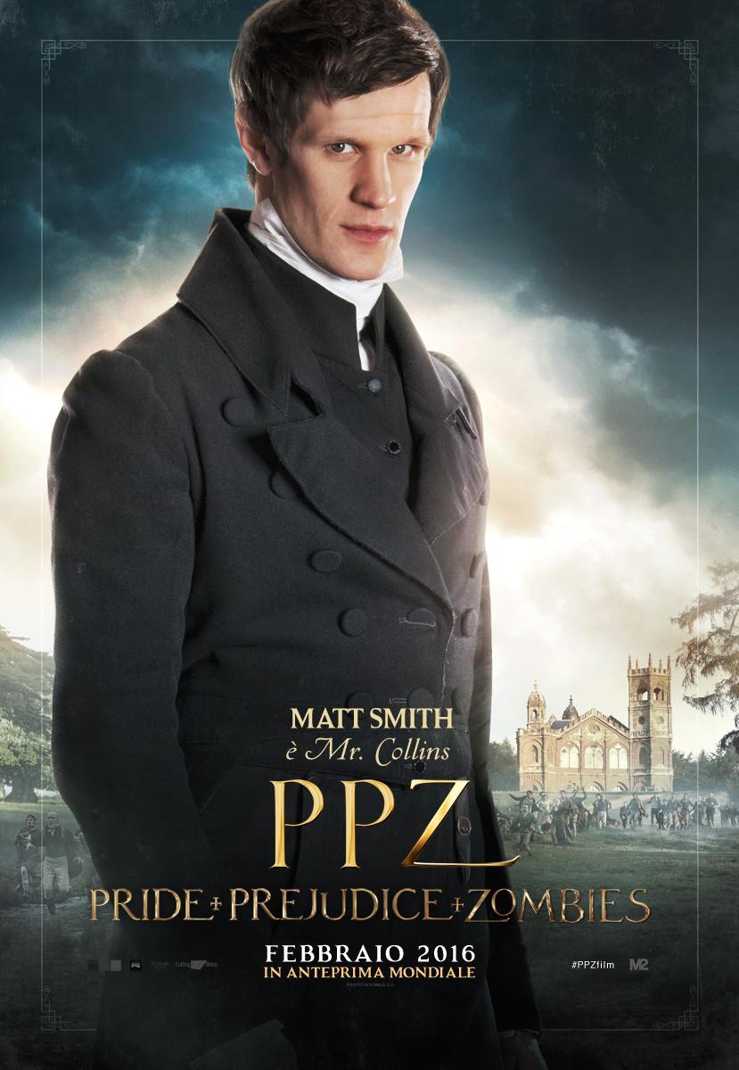 PPZ – Pride and Prejudice and Zombies: il character poster italiano di Matt Smith