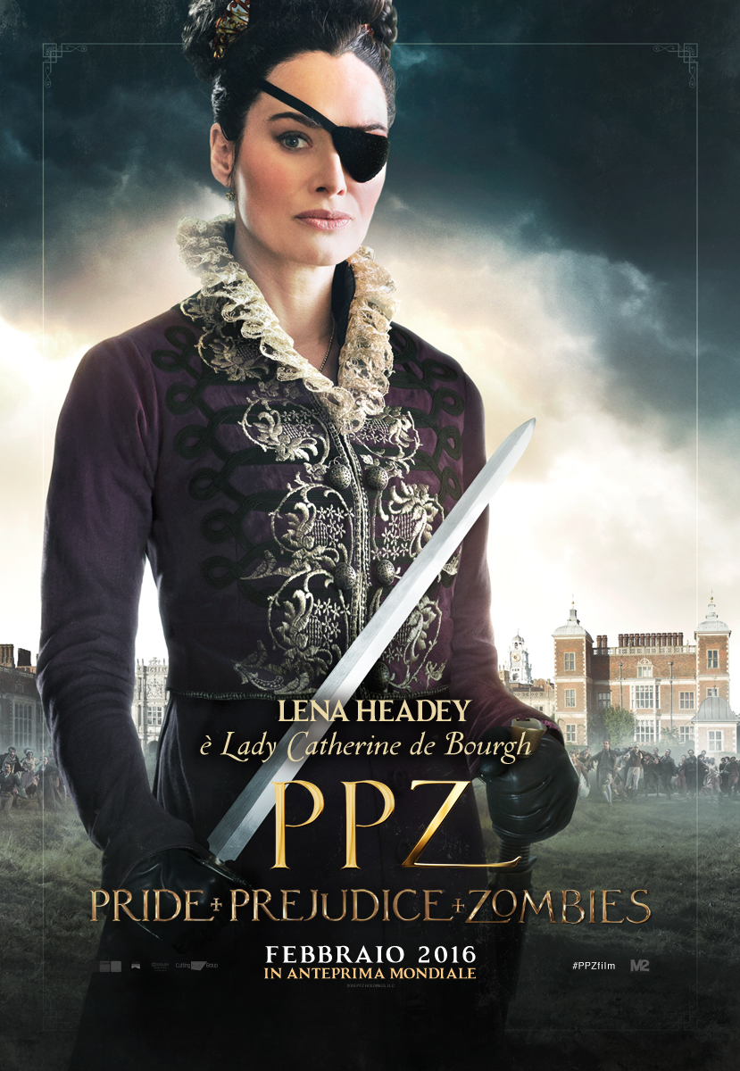 PPZ – Pride and Prejudice and Zombies: il character poster italiano di Lena Headey