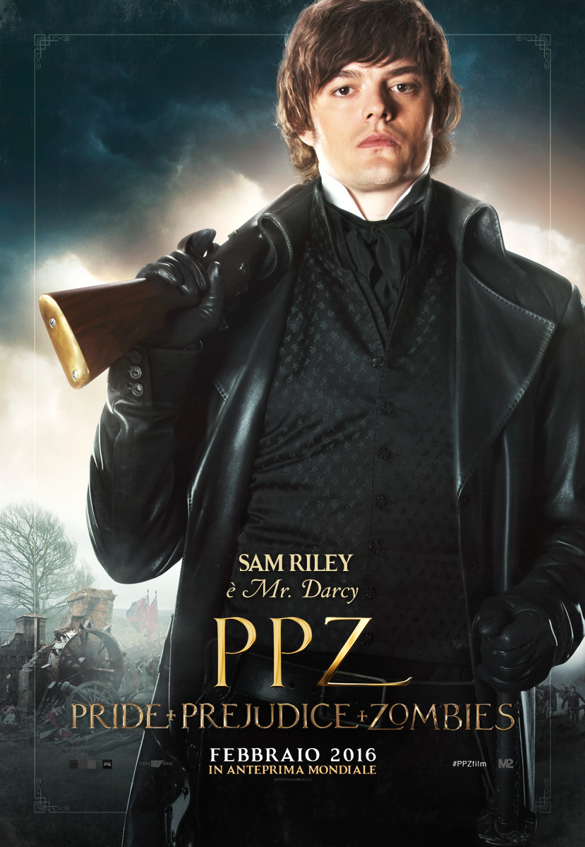 PPZ – Pride and Prejudice and Zombies: il character poster italiano di Sam Riley