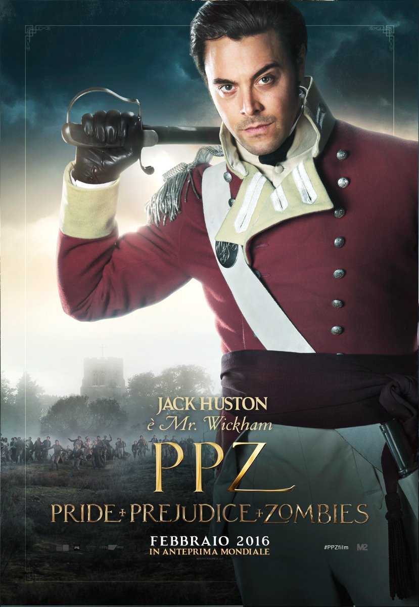 PPZ – Pride and Prejudice and Zombies: il character poster italiano di Jack Huston