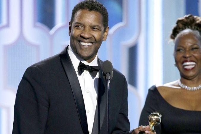 Denzel Washington ai Golden Globes 2016