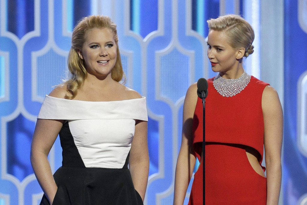 Jennifer Lawrence ed Amy Schumer ai Golden Globes 2015
