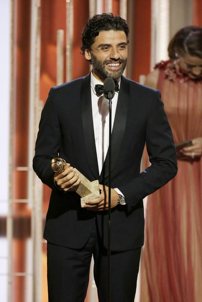 Oscar Isaac ai Golden Globes 2016