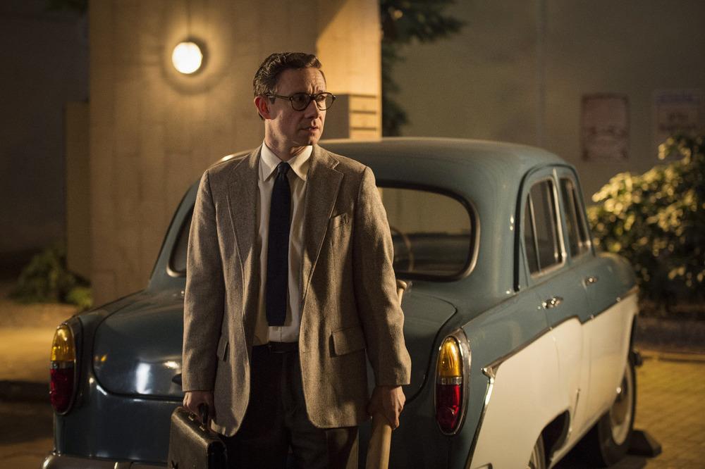 The Eichmann Show: il protagonista Martin Freeman in una scena del film