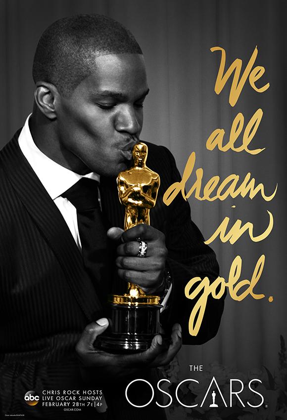 Oscar: Jamie Foxx in  un poster dell'88esima edizione