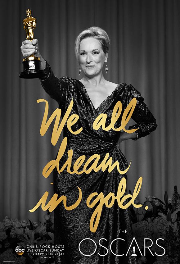 Oscar: Meryl Streep nel poster dell'88esima edizione